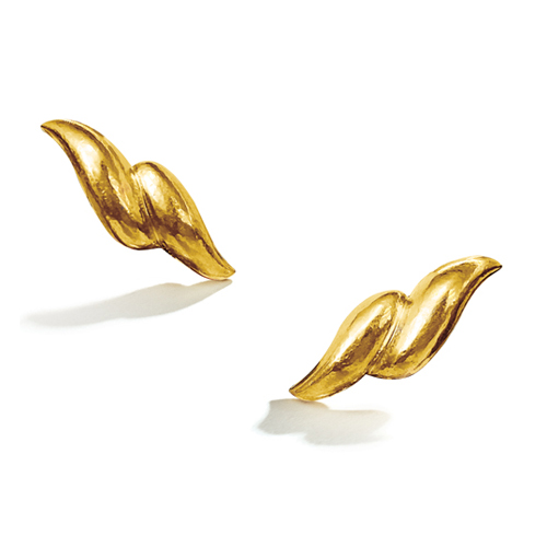 Belperron-Jewelry-Double-Wave-Earclips-Virgin-Gold