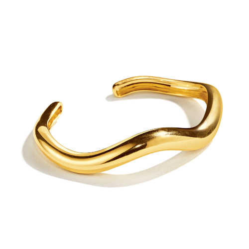 Belperron-Jewelry-Tendril-Wave-Cuff-Gold